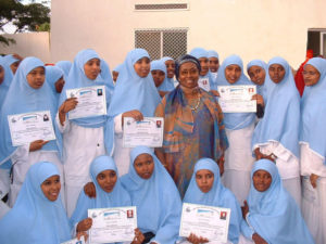 Edna Adan with first class of Nursing School Graduates