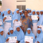 Edna Adan with graduating Nurses
