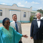 Ambassador DeCherf tours hospital