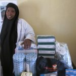 Midwife with the midwife kits