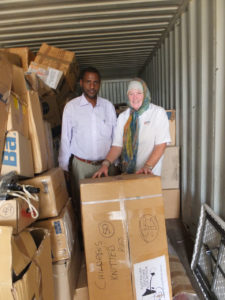 Donated medical supplies from Australian Doctors for Africa