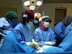 Fistula Surgery being performed in Somaliland