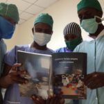 Amoud U medical students read Kees Waaldijk obstetric fistula manual on day 2 of training in Boroma.