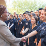 Edna with USA Nursing Students
