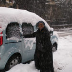 Edna in snowy Switzerland 2010
