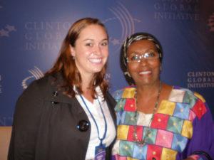 Edna Adan met with former volunteer Kathryn McCaleb in NYC