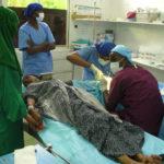 Visiting surgeons operate